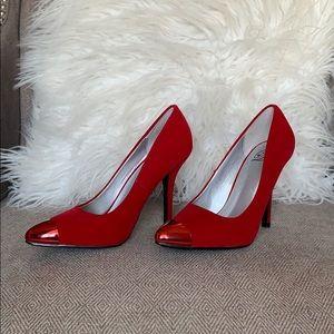 Heart in D Red Cap Toe Heels